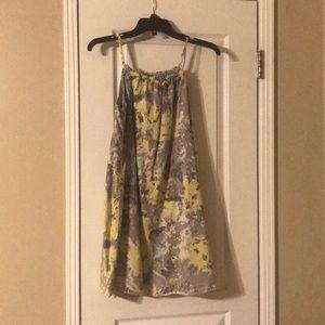 Cute yellow gray Marbel dress